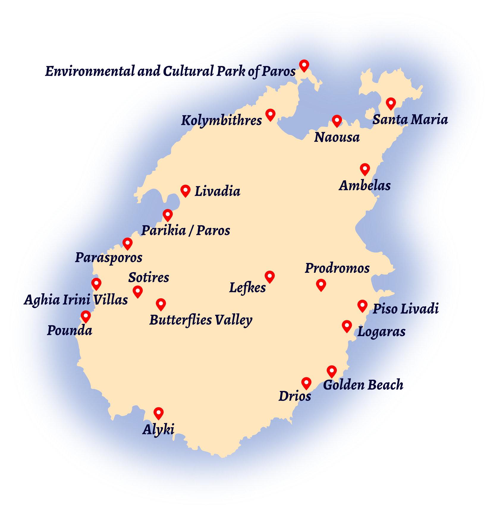 Paros Map